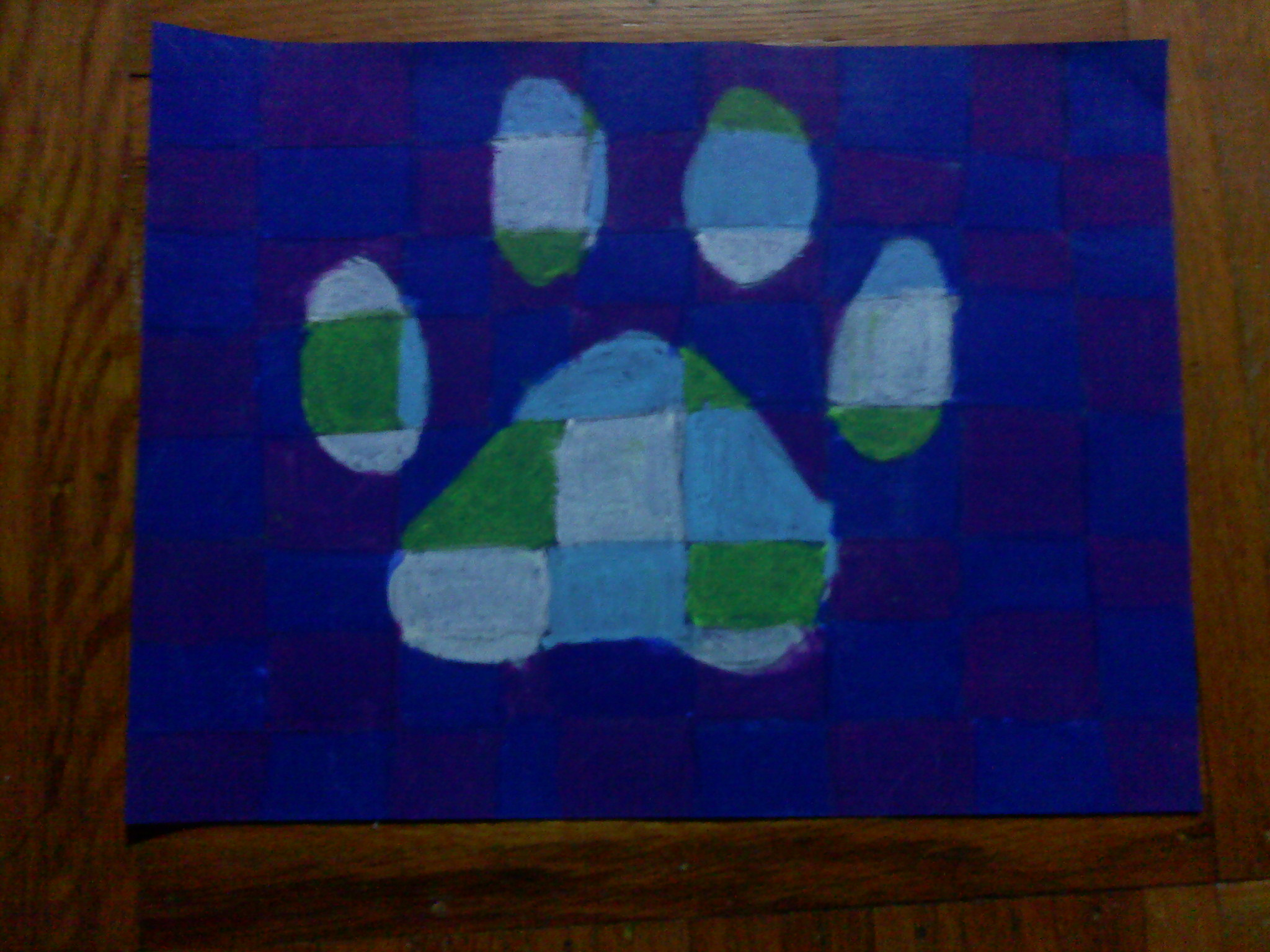 Checkered Pawprint