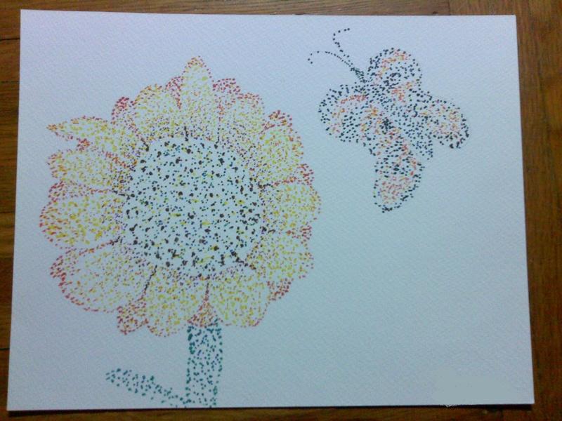 Pointelism Sunflower