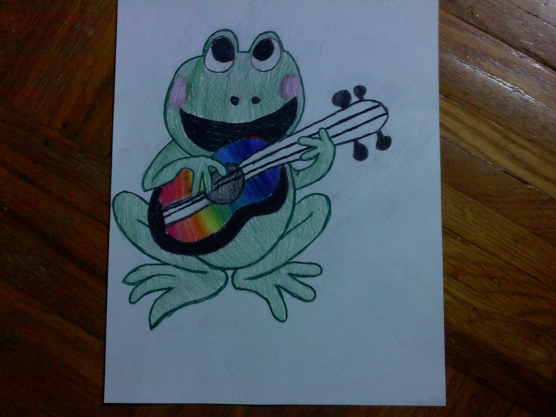 Frog and Guitar